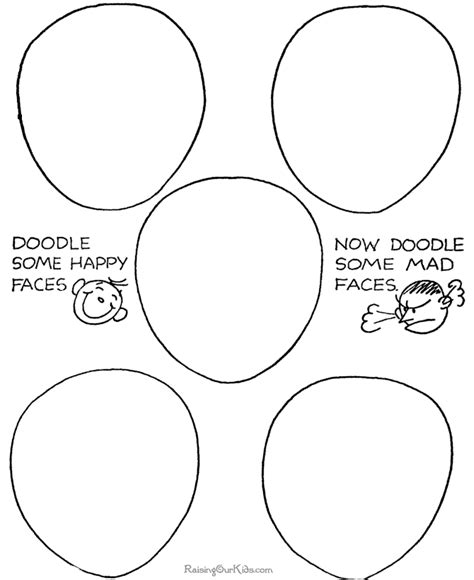 learn how to make doodle printable how to doodle faces 075