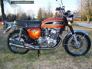Honda 1975 Motorcycle 1975 Honda Cb 750 Quot Flake Orange Quot Vintage Cb750 4
