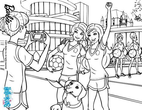 Barbie Soccer Coloring Pages | sport class coloring pages hellokids com