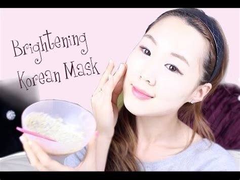 diy brightening mask diy korean brightening clear skin pack recipe 뽀샤시 피부 만들기