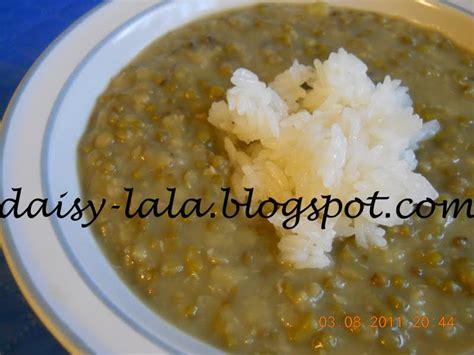 resepi membuat bubur kacang hijau daisy lala bubur kacang hijau dengan pulut microwave