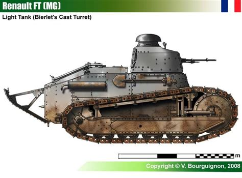 french renault tank renault ft mg berliet s turret ww i france military