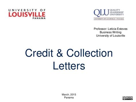 Collection Letter Of Credit Credit And Collection Letters