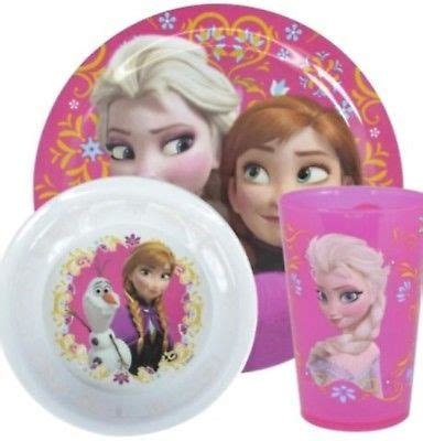 Disney Frozen Breakfast Set Pink disney frozen melamine meal set cup plate bowl boxed