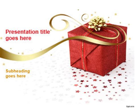 free gift powerpoint template is a present box