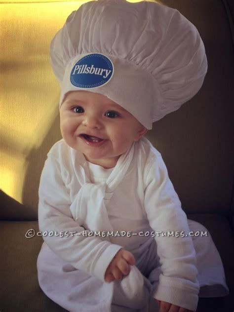 cute pillsbury doughboy baby costume  mom  baker