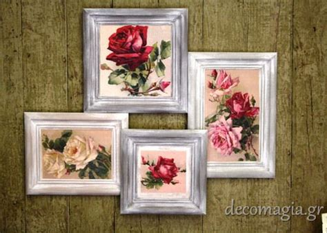 decoupage frame ideas decoupage frames κορνίζες με decoupage ideas for the