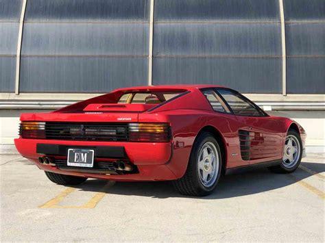 Ferrari Testarossa For Sale by 1986 Ferrari Testarossa For Sale Classiccars Cc