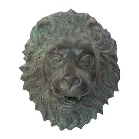 Basil Street Gallery Florentine Lion Head Spouting Bronze