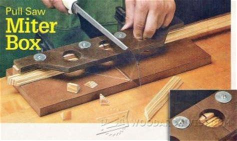 diy pull  miter box woodarchivist