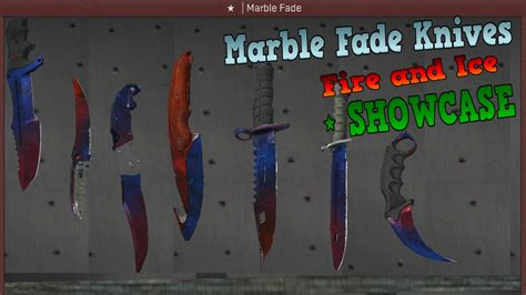 marble fade pattern gut knife csgo marble fade fire and ice showcase youtube