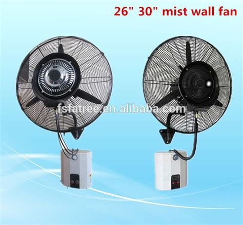 industrial fans with water mist oscillation 26 quot industrial wall mounted water mist fan