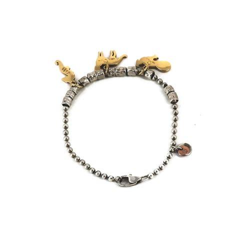 dodo pomellato charms bracelet dodo pomellato trois charms en or