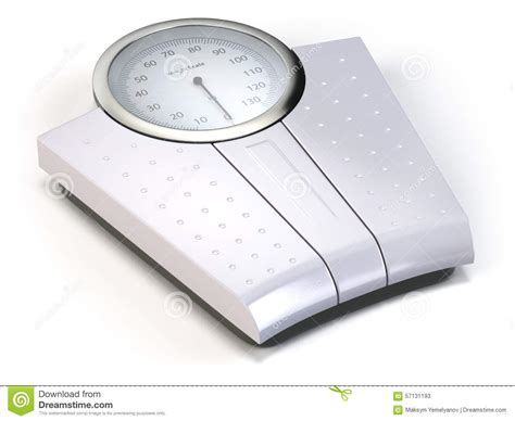 bathroom weight scale on white stock illustration image