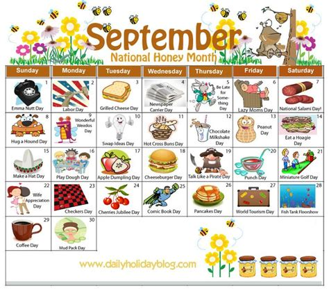may daily holidays calendar daycare calendarholidays september daily holiday calendar holiday non