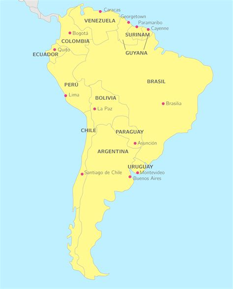 atlas de lamrique latine carte am 233 rique latine en espagnol electricdragoncafe