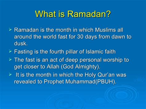 what is fasting ramadan holy month