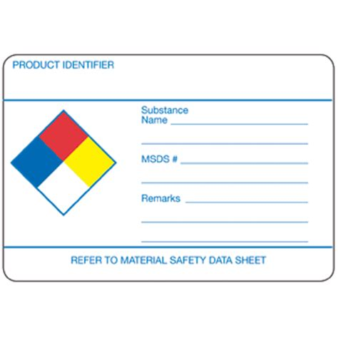 Nfpa Write On Label 3 Quot X 2 5 Quot Gloss Paper Rolls Of 500 Nfpa Labels Icc Us Online Store Msds Label Template