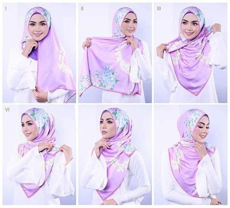 tutorial hijab segi 4 simple elegan 25 kreasi tutorial hijab segi empat simple terbaru 2018