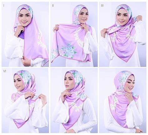 tutorial hijab turban segi empat satin 25 kreasi tutorial hijab segi empat simple terbaru 2018
