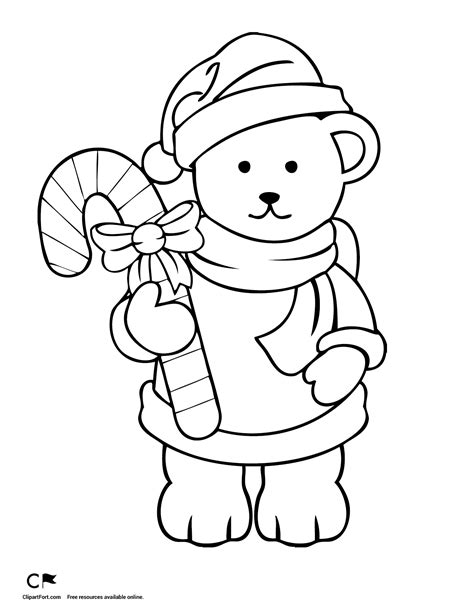 christmas coloring pages teddy bear teddy coloring page 1 clipart fort