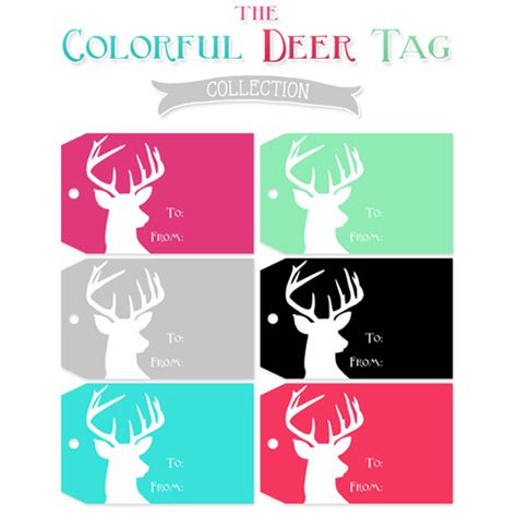 printable deer gift tags free deer gift tag printables the cottage market