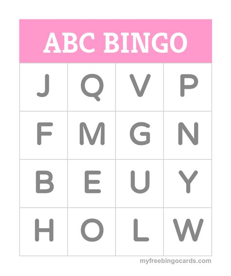 printable alphabet games for toddlers free printable bingo cards alphabet bingo bingo card
