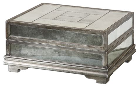 Decorative Boxes For by Trory Mirrored Decorative Box Traditional Decorative