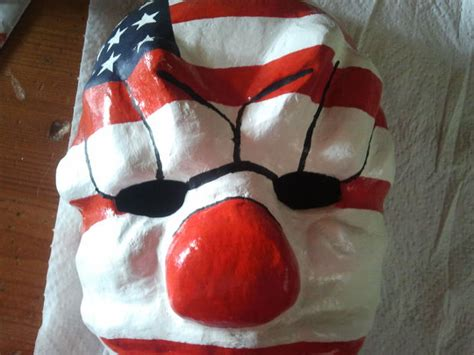 Topeng Dallas Payday Hardresin payday the heist dallas clown mask 7