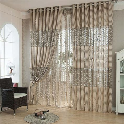 Living Room Curtains For Sale by Sale Jacquard Tulle Curtain Set For Living Room