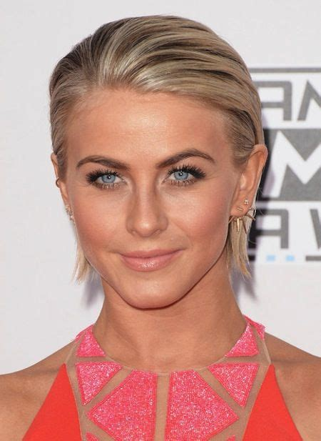 list of celebrities with thick hair short straight cut slicked back for julianne hough short