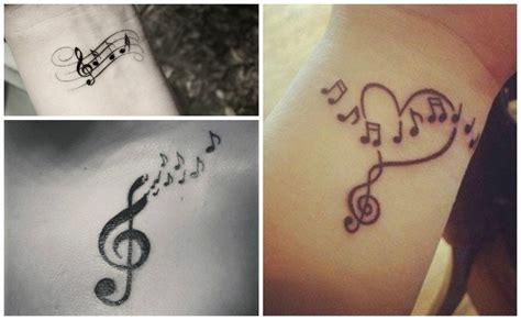 imagenes tatuajes musicales tatuajes de notas musicales clave de sol y otros
