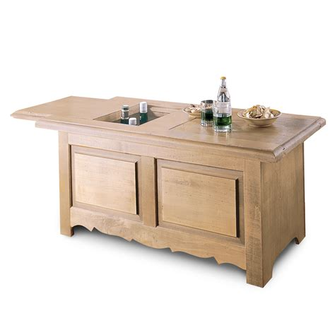 table basse rangement bouteille