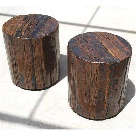 how to a tree stump end table appalachian 2pc tree stump end table stool set