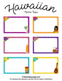 printable name templates printable hawaiian name tags