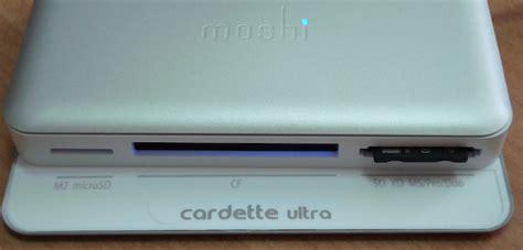 Moshi Cardette Memory Card Reader Review by Cardette Ultra Di Moshi Un Card Reader Compatto Con Hub Usb