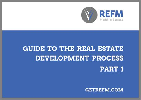 Mba Real Estate Development by Free E Book Guide To The Real Estate Development Process