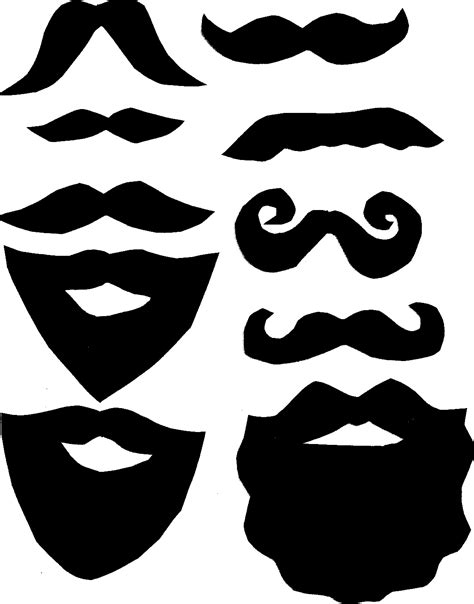 mustache print out template photo booth mustache printables clipart best