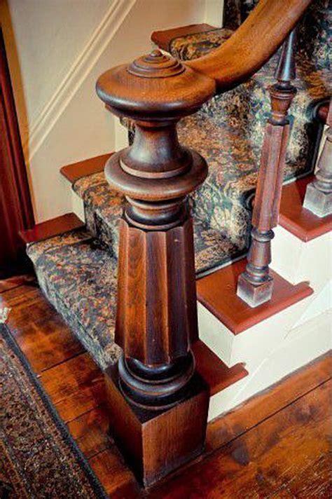 newel post  italianate wrought iron railing interior