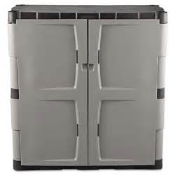 Rubbermaid Plastic Storage Cabinets With Doors Rubbermaid 7085 Door Storage Cabinet