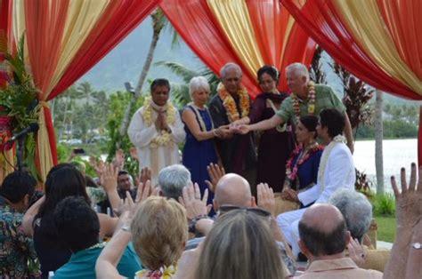 tulsi gabbard marries abraham williams  vedic ceremony  hawaii photosimagesgallery