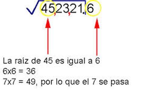 calcula la raiz cuadrada metodo para saber como se saca la ra 237 z cuadrada