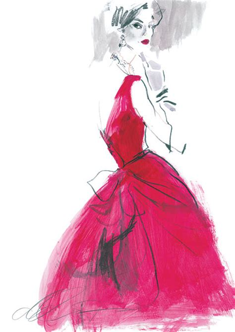 david downton fashion illustrator clients v a