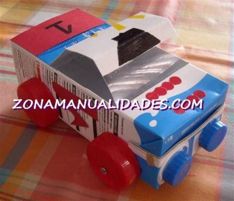 como hacer carrito con material reciclable juguetes coche reciclado 1 186 e s o manuel torres