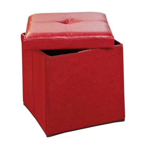 simplify storage ottoman simplify red storage ottoman f 0625 red the home depot
