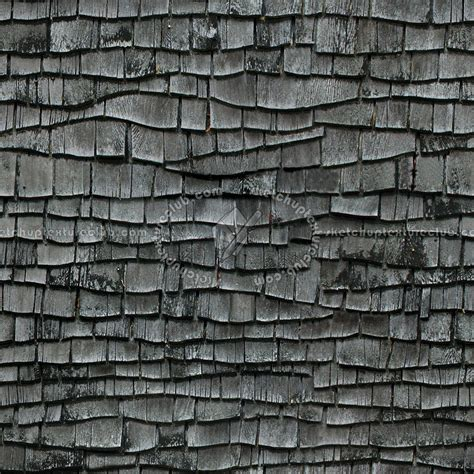 wood roof pattern old wood shingle roof texture seamless 03892