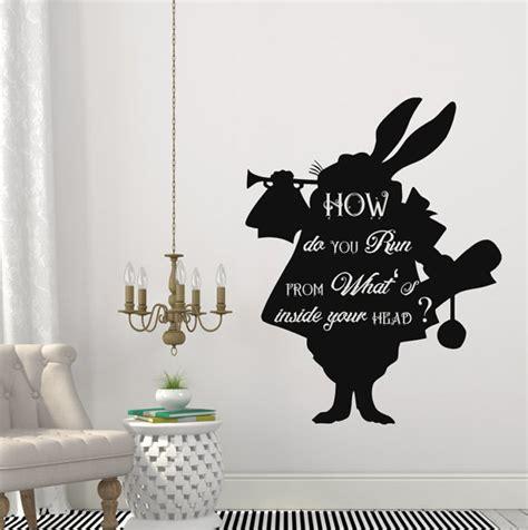 kids bedroom quotes aliexpress com buy cartoon rabbit alice in wonderland wall sticker nursery kids