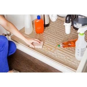 xtreme mats under sink kitchen cabinet mat reviews wayfair xtreme mats beige kitchen depth under sink cabinet mat