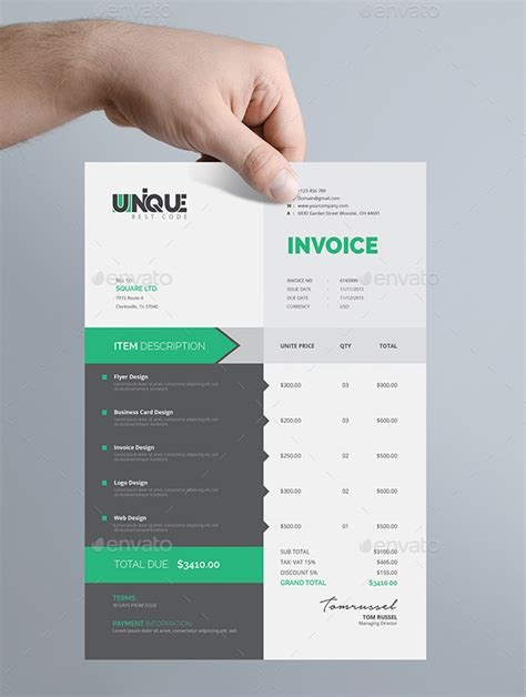 creative invoice template the best invoice payment terms to avoid past due invoices