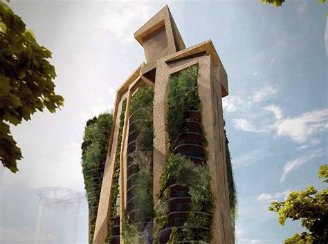 residential towers getting the backyard in the city part menis architects agora garden is a rock like residential